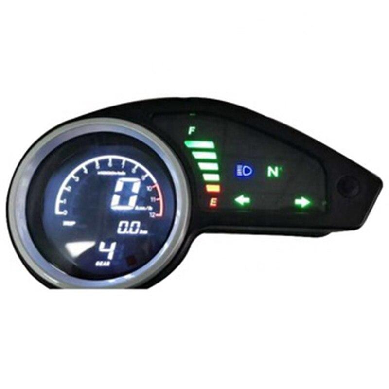 مقياس سرعة الدوران الرقمي العالمي للدراجات النارية ، مقياس سرعة الدوران مع ضوء ليلي LCD