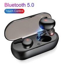 Auriculares inalámbricos Y30 TWS, audífonos intrauditivos con cancelación de ruido, sonido estéreo y música, para iphone y teléfono inteligente, 5,0