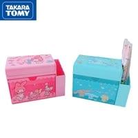takara tomy cartoon flip drawer box simple childrens hairpin hair accessories storage box stationery pen holder finishing box