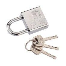 3 clés cadenas forme de coeur serrures en acier inoxydable utilisation Durable haute sécurité solide serrure porte porte boîte sécurité