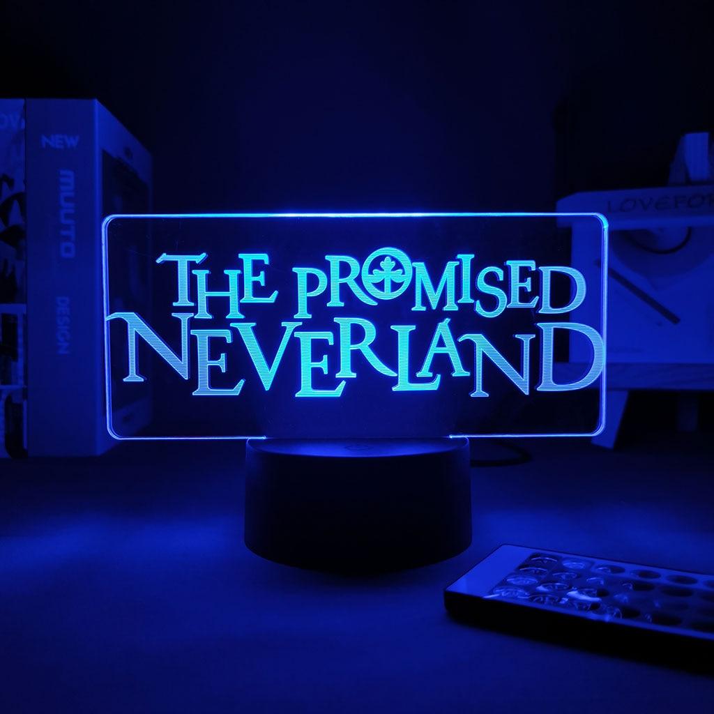 3D ночной Светильник обещанный Neverland, крутой детский ночник, светодиодный светильник с изменением цвета и сенсорным датчиком, Шаринган, свет...
