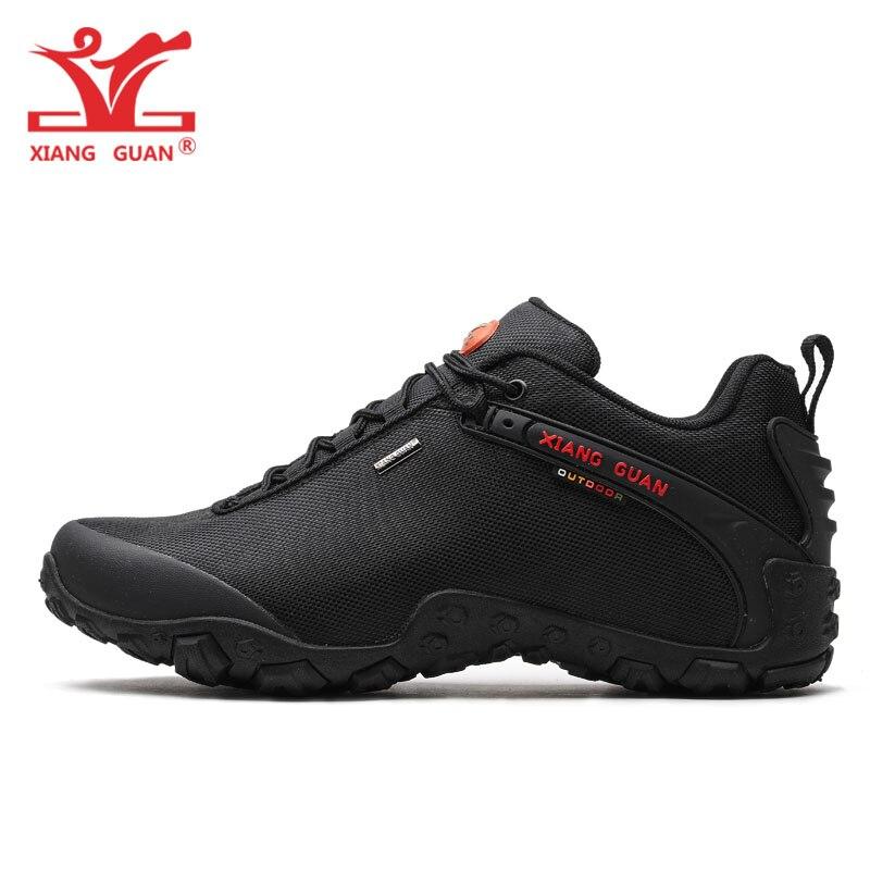 XIANG GUAN zapatos de senderismo al aire libre tamaño EUR 36-48 hombres transpirable antideslizante a prueba de viento negro mujeres botas de viaje tendencia deportes zapatillas de deporte