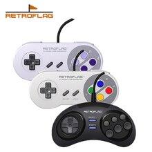 2PCS Retroflag Classic USB Wired Controller Gamepad Handle for Raspberry Pi Windows Nintendo Switch