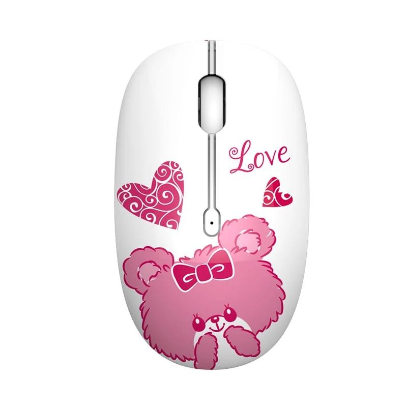 2 4G USB Wireless Stille Maus 1600DPI Nette Rosa Gaming Maus Fur Macbook Lenovo ASUS HP DELL Laptop PC mause Madchen Frauen Hause