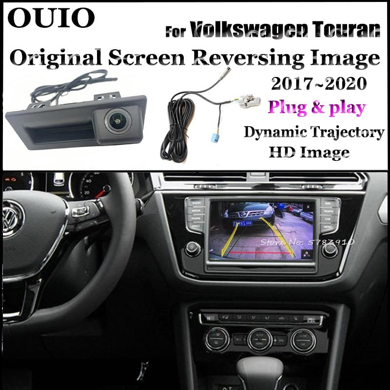 Plug & Play Original screen For VW Volkswagen Touran 2 II 5T 5N 2017 2018 2019 2020 2021 Trunk Handle Backup parking Rear camera