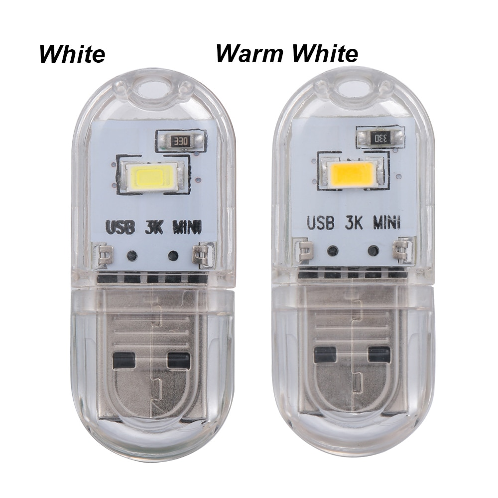 Minilámpara LED USB de 3 a 7V, luz nocturna, llavero, lámpara Led de lectura, Bombilla de libro para Notebook, Banco de energía, ordenador, portátil, Bombilla de Camping