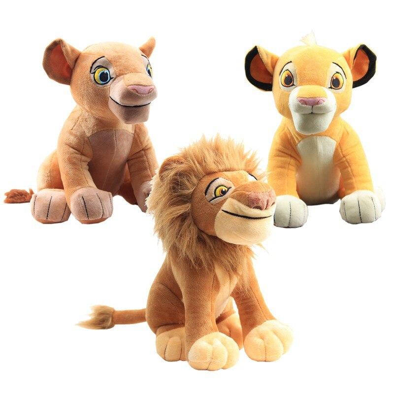 Lindo 1 piezas sentado alto 28cm Simba El Rey León peluche juguetes Nala Simba suave peluche animales muñeca para regalos de cumpleaños para niñas