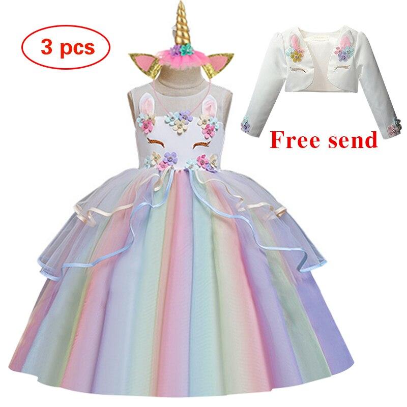 Vestido feminino, nova flor para festa de casamento vestido de festa coquetel unicórnio vestido formal de aniversário da menina