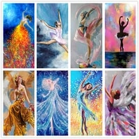 5d diy diamond painting ballet girl fairy angel embroidery full round square drill rhinestone cross stitch mosaic pictures decor