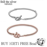 hot sale 100 real 925 sterling silver pan bracelet for women fit original design snake charms bangle diy high quality jewelry