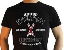 House Bolton T Shirts Targaryen Stark Lannister Baratheon T-Shirt Game Of Thrones