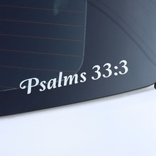 ZTTZDY 17.5CM*2.3CM Psalms 33:3 For Motorcycle Accessories Vinyl Car Car Sticker ZJ2-0197