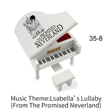 The Promised Neverland Music Box Song Isabella's Lullaby Piano Model Musical Home Coffee Shop Displa