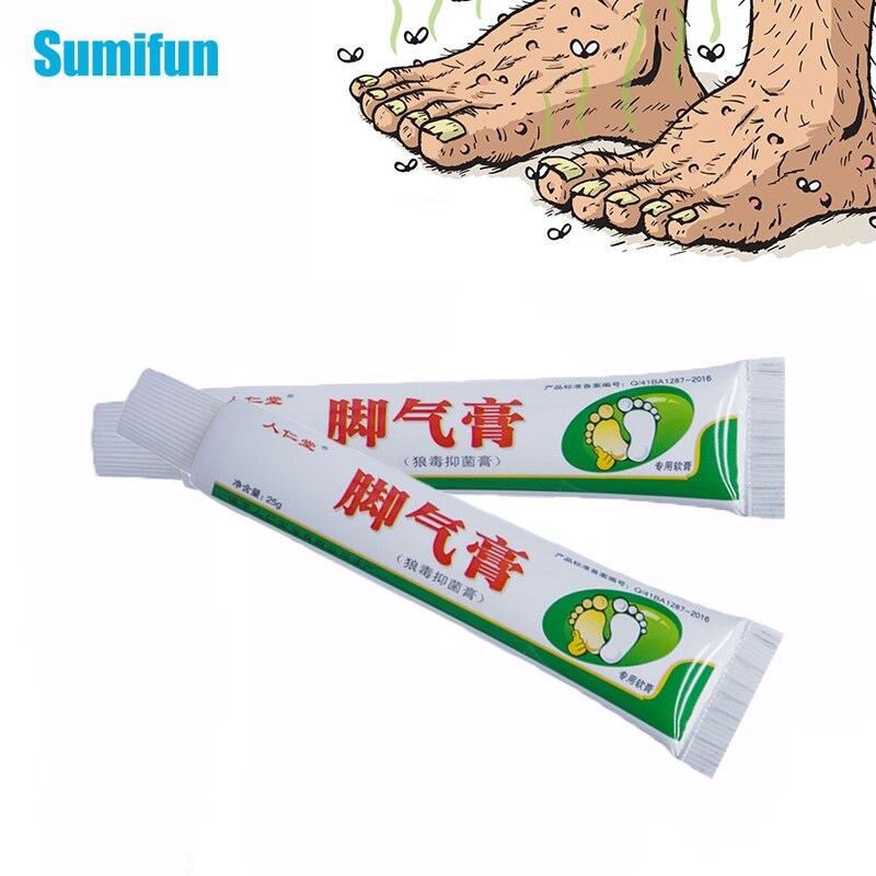 1/2Pcs Athlete's Foot Cream Erosive Beriberi Anti-Itch Sweat Odor Feet Psoriasis Pain Patch Antibact