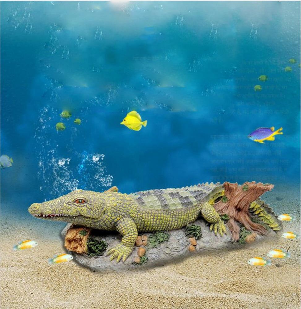 Кислородно-расширение «крокодиловая кожа» аквариума озеленение декор для аквариума украшения Изделия из смолы