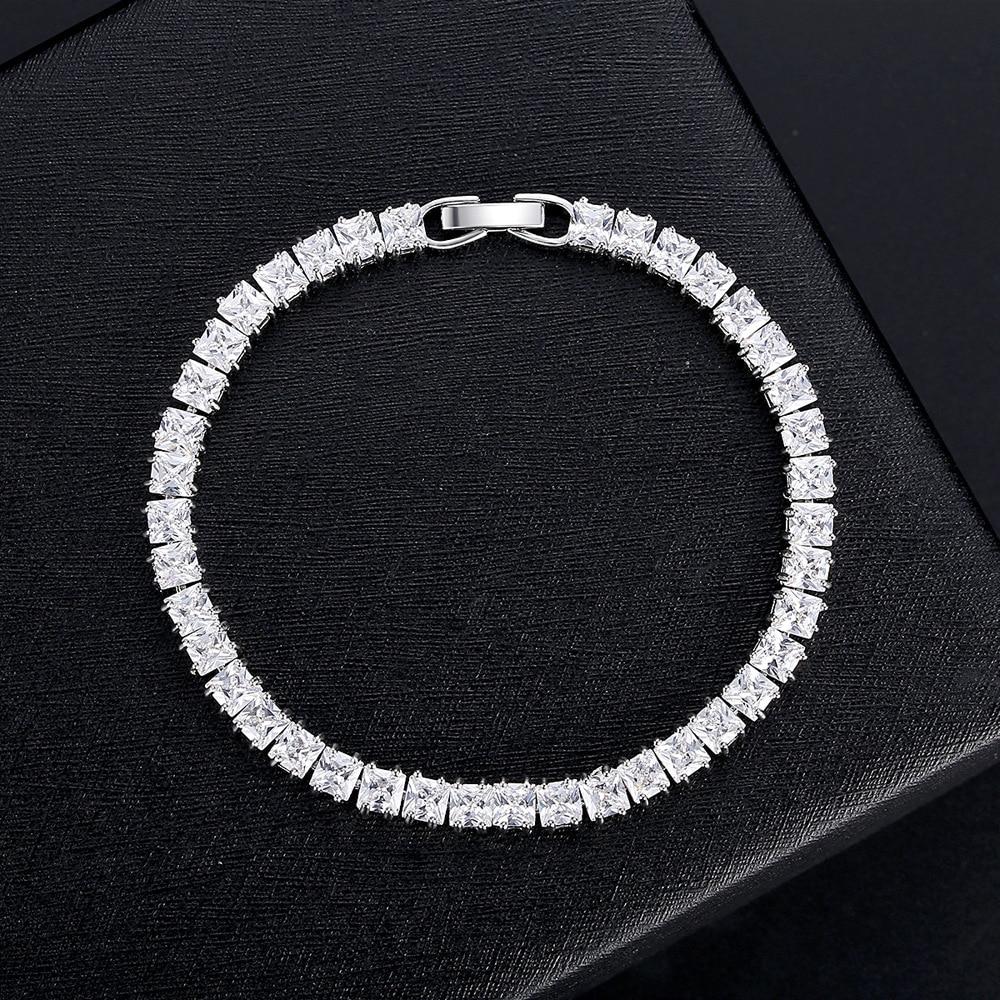 2020 nova princesa de luxo 3mm 16cm 925 pulseira de prata esterlina pulseira para presente aniversário feminino jóias por atacado moonso s5451