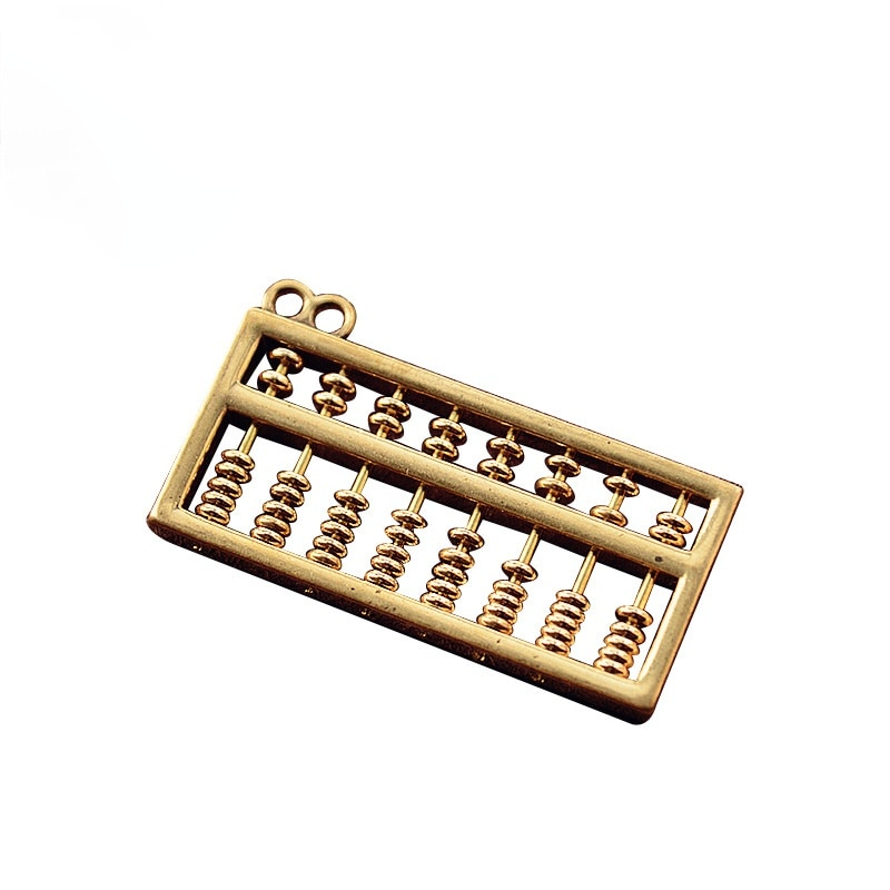 1pcs Brass Key Chain Pendant Abacus Five Emperors Money Car Key Accessories Abacus Daily Gold Creative Jewelry