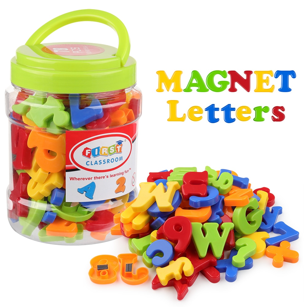 Coogam Magnetic Letters Numbers Alphabet Fridge Magnets Plastic ABC 123 Spelling Counting Educationa
