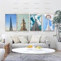 Peinture decorative moderne sous le ciel bleu  affiche Hd  mur de maison  peinture sur toile etanche a lencre