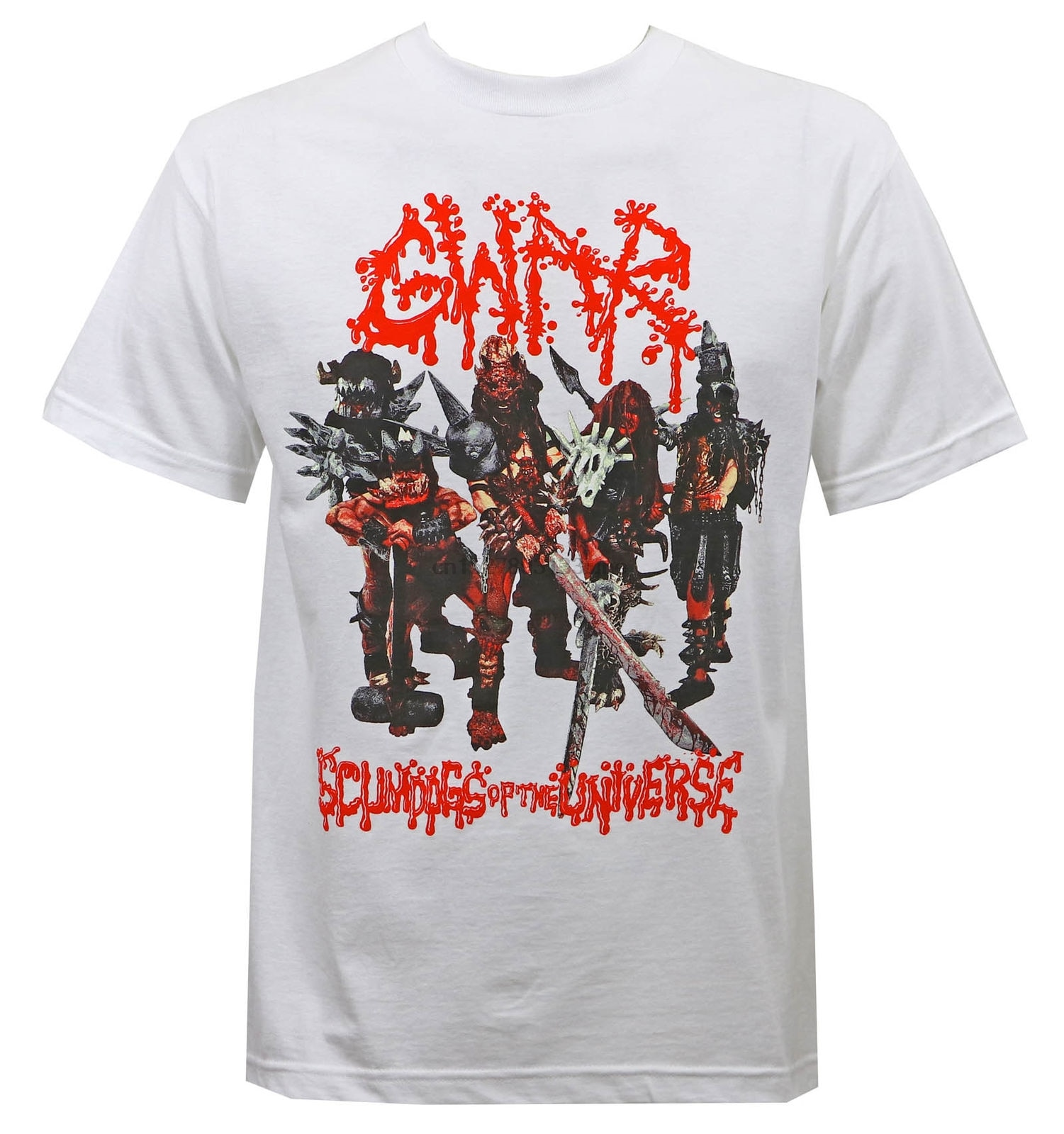 Auténtica GWAR Band Scumdogs of The camiseta de universo S M L XL 2XL 3XL nuevas camisetas para hombre de manga corta tendencia ropa camiseta superior