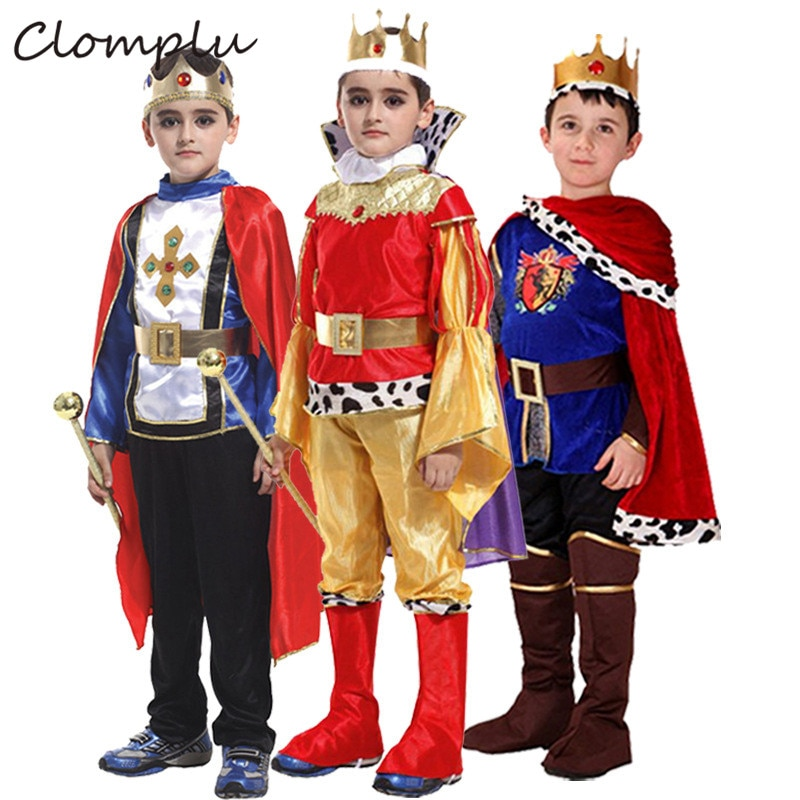 Clomu Prince Aladino disfraz de Halloween para niños Cosplay Anime Kids Costume One Sets disfraces fantasía rojo azul oro