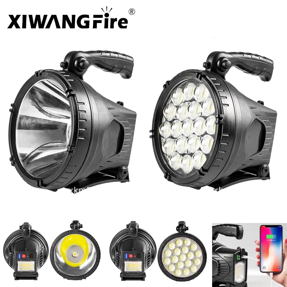 P90 حبيبات مصباح مستديرة متفاوتة الأحجام LED المحمولة الأضواء المحمولة مصباح يدوي الكشاف ، ومناسبة للخارجية أضواء التخييم مصباح ليد جيب