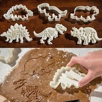dinosaur fossil cookie making molds stamps set of 3 pieces pvc cream chocolate decoration molds