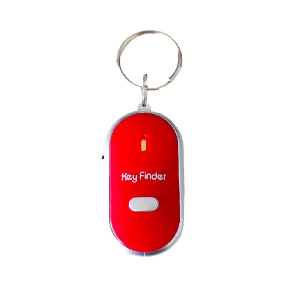 Elderly Anti-lost Device Alarm LED Light Torch Remote Sound Control Lost Key Finder Locator Keychain