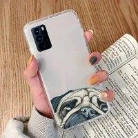 pug dog french bulldog phone case transparent for oppo reno 2 5 z pro gtneo realme q2 gt 11 findx 2 pro realmev 3 5 k7x