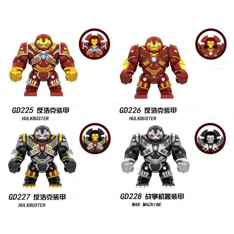 Marvel bloques de construcción película juego final Hulkbuster máquina de guerra con pequeño hombre de hierro figuras para niños juguetes regalo GD225-GD228
