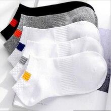 10 pezzi = 5 paia/lotto estate cotone uomo calzini corti moda traspirante barca calzini comodi calzini casuali maschio bianco caldo