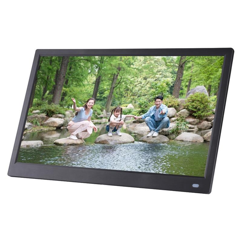 PORPOISE 12,5-pulgadas 1080 Pantalla de Monitor HD marco de foto Digital portátil Monitor pantalla reproductor de película para tableta-fuente de alimentación de la UE