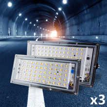 3pcs/lot Led Floodlight 30W 50W 100W 220V-240V Outdoor Flood light Spotlight LED Street Lamp Projector Exterior IP65 Waterproof