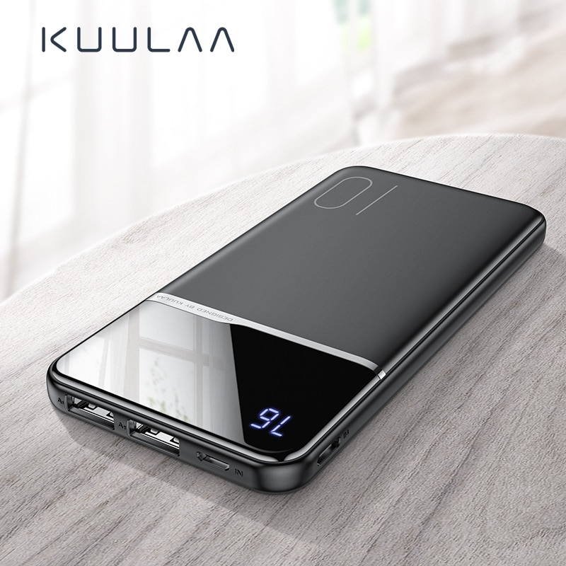 KUULAA power bank 10000 mah tragbare ladegerät power 10000 mah für xiaomi mi 9t pro 8 iPhone 11 XR blackview A80 A60 poverbank