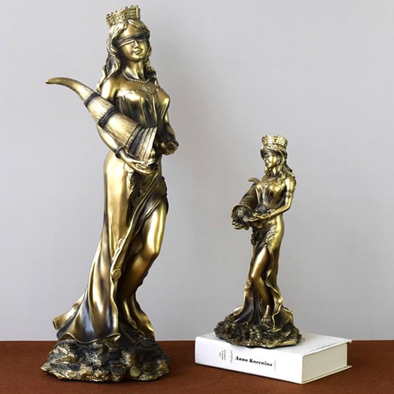 Griechischen Mythologie Die Göttin Von Glück Harz Statue Kunsthandwerk Modell Zu Hause Dekoration Zubehör Modernen Dekorationen