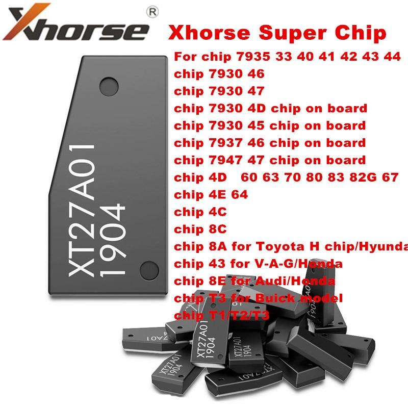 Xhorse VVDI Super Chip XT27A01 XT27A66 Transponder for ID46/40/43/4D/8C/8A/T3/47 for VVDI2 VVDI Key Tool/Mini Key Tool