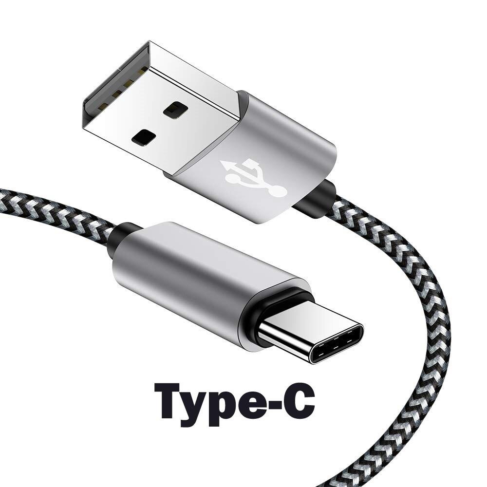 Para xiaomi Cable de tipo C 2.1A de carga de Cable USB...