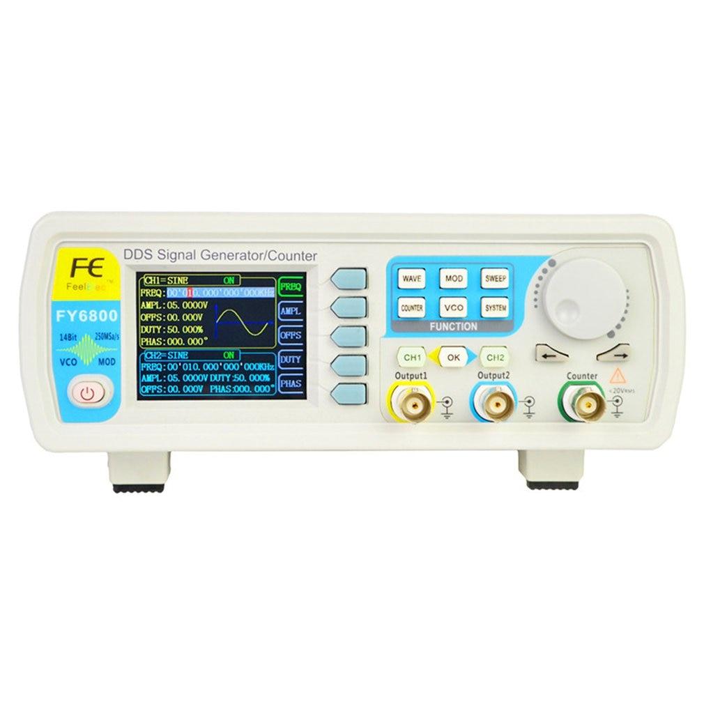 FellTech 20M 20MHZ 2-canal, arbitrarias/generador de señal 250MSa/s 8192*14bits, 100MHz, de forma de onda medidor de frecuencia, VCO US/EU/UK/AU