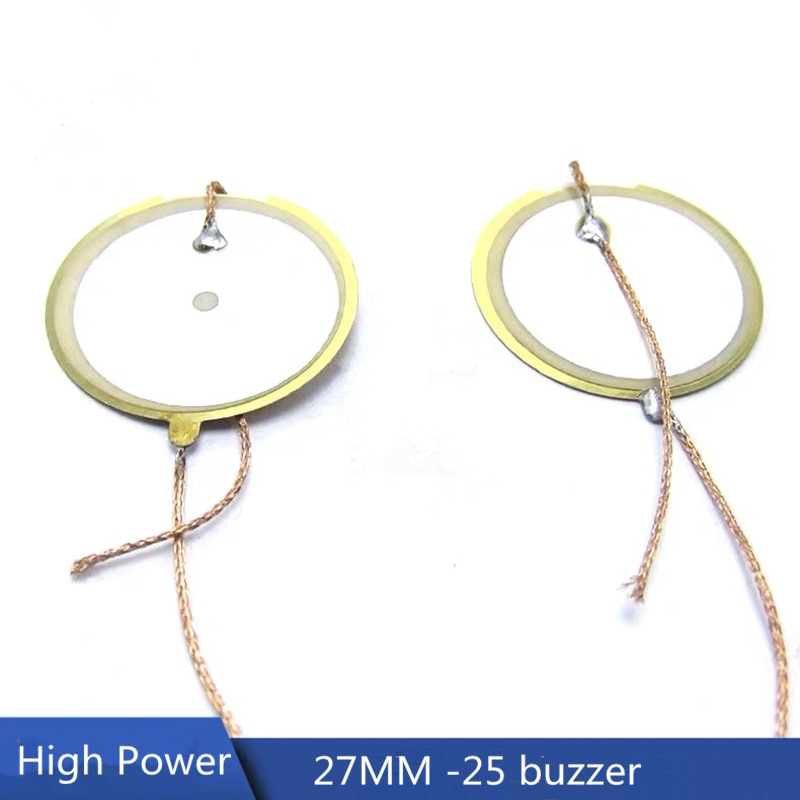 2Pcs/lot 27MM -25 / 21.5 piezoelectric ceramic double-sided buzzer ultrasonic Piezo Ceramic High Power buzzers