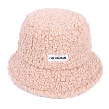 Winter Warm Faux Fur fluffy eimer hut Frauen gorra de pescador sombreros rosa schwarz bob femme panama fischer hüte