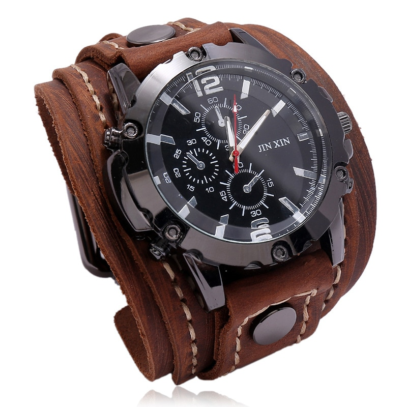 Jessingshow Men Watch Luxury Wristwatch Quartz Wristwatches Fashion Blue Glass Punk Style Mens Watches Relogio Masculino