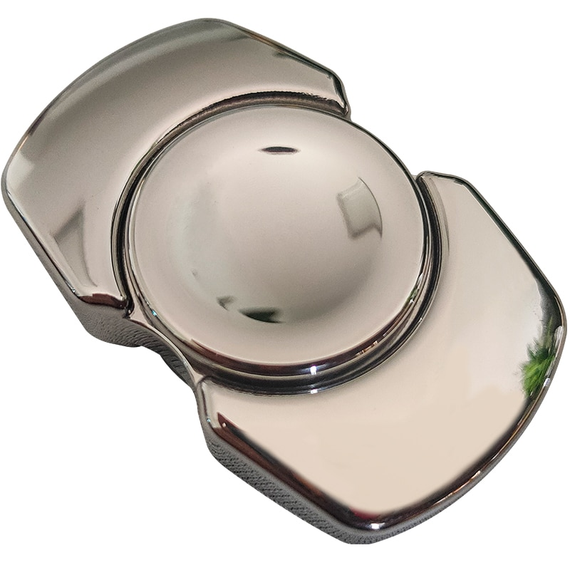Curved stainless steel brass fingertip gyroscope spinner ring fidget spinner metal  spinner ring fidget toys enlarge