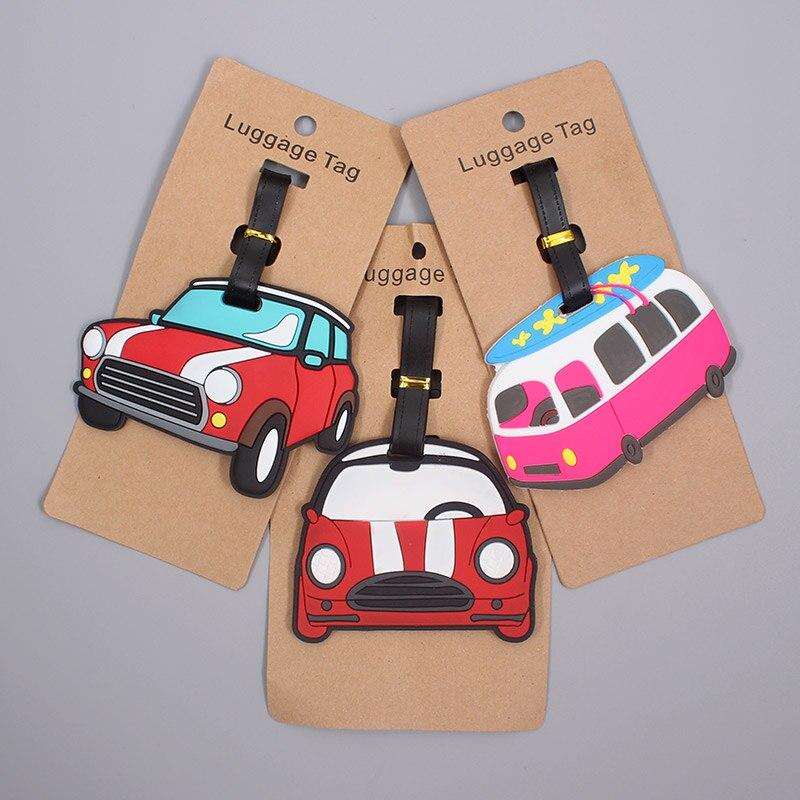 Accesorios de viaje coche encantador Etiqueta de equipaje de Gel de sílice maleta ID Addis titular de equipaje de embarque etiqueta portátil