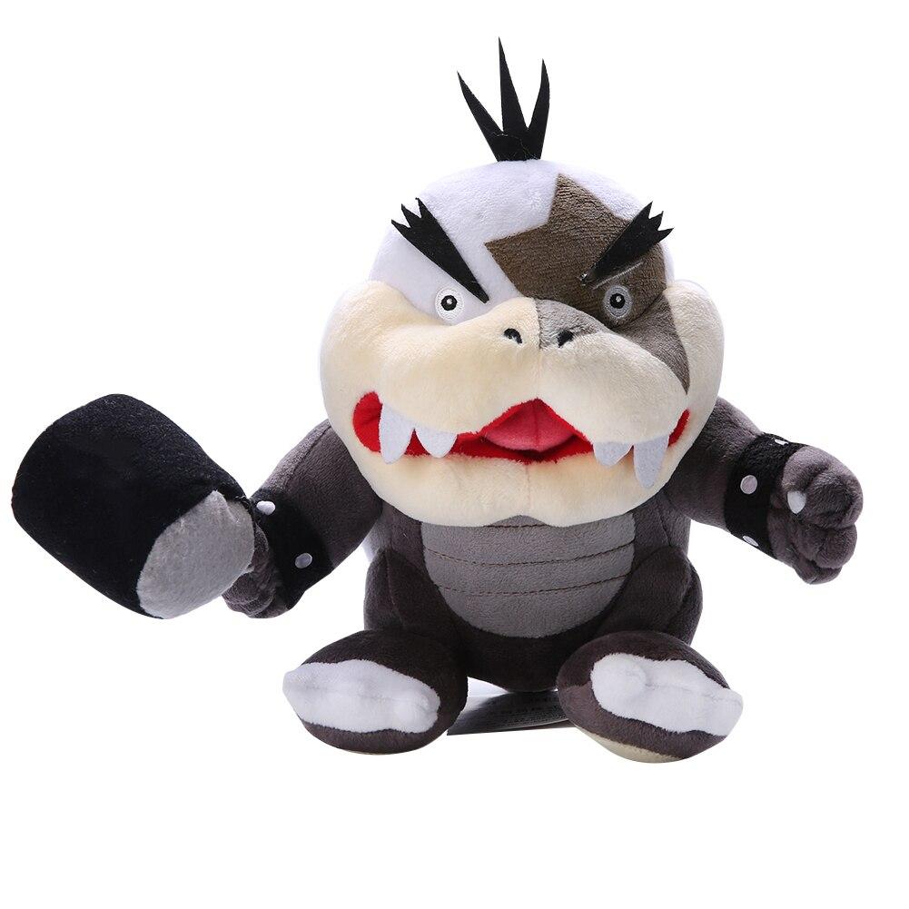 Morton Koopa Bowser Koopalings con martillo Big Mouth peluche juguete de peluche suave muñeca niños películas de animales juguetes 21cm regalo de Navidad