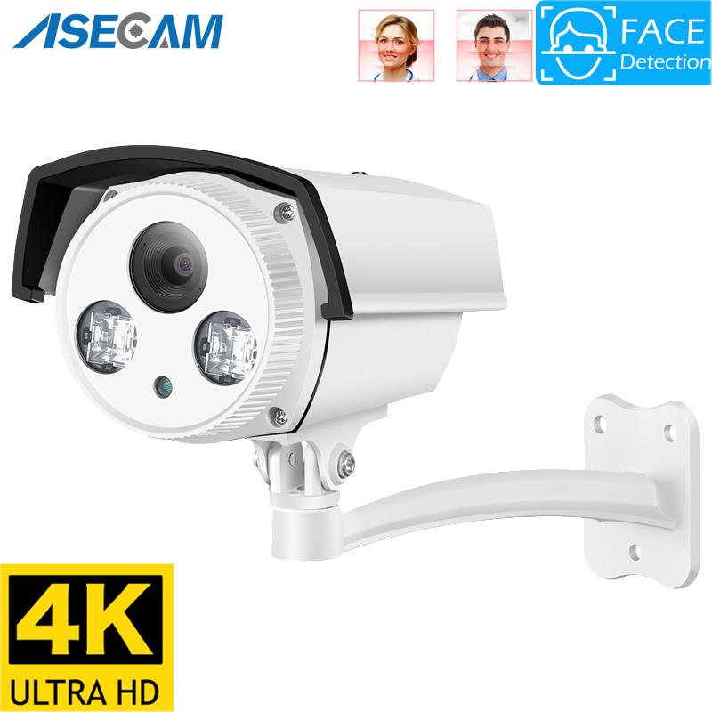 8MP 4K IP Camera Outdoor Ai Face Detection H.265 Onvif Bullet CCTV Array Night Vision IR 5MP POE Human Home Security Camera