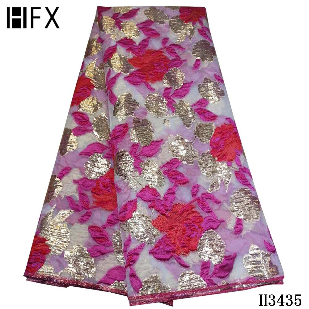 HFX najnowsze koronki afrykańskie 2020 wysokiej jakości haftowane brokatowa koronka tkanina francuska koronka tkanina na nigeryjską imprezę sukienka F3435