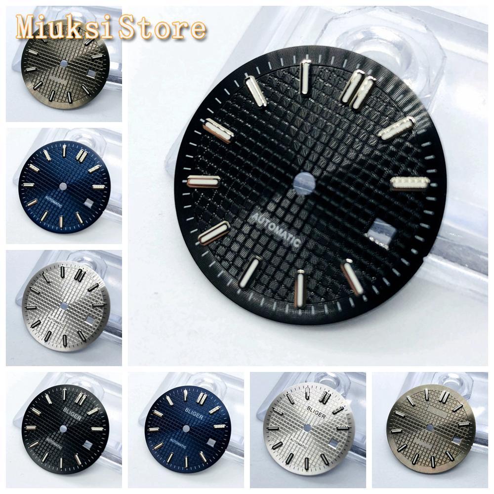 1 шт 31 мм стерильный синий черный серебристый серый циферблат часы подходят ETA2836/2824 Mingzhu DG2813/3804 Miyota8215 821A 8205 автоматический механизм