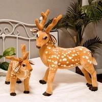 hot 34 80cm cute simulated sika deer plush toys for children real life giraffe animal stuffed doll home decor kids birthday gift