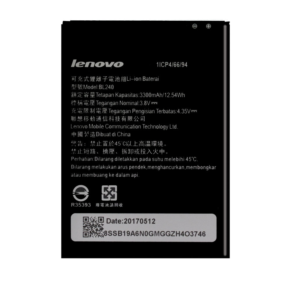 20pcs/lot New Original Battery For Lenovo A936 A938T Note 8 Note8 BL240 Phone High Quality Batteria AKKU In Stock 3300mAh enlarge