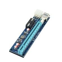 PCI-E Riser Card PCI Express 1X to 16X 60CM USB 3.0 SATA to 4Pin+6Pin Dual Power Cable for BTC Minin